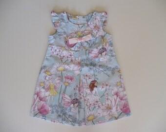 GIRLS FAIRY DRESS, girls dress, party dress, special occasion, birthday, fairy, girls clothing, summer, holiday, handmade
