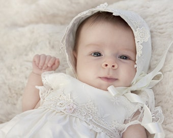 Christening Gown 'Isabella' by Adore Baby.  Baptism Gown, Christening Dress, Christening Outfit