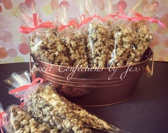 Caramel & candy  Pop Corn Favors