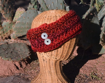 Children's Red Headband/Ear Warmer