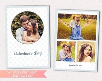 5x7 PSD Valentine's Card Template