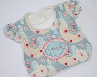 Personalised Baby Girl Bib, Girls Bib with Embroidered Name, Girl Bib, Baby Girl Gift, Baby Shower Gift, Personalised Baby Gift