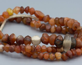 "118 Ancient Carnelians and Agates 6mm to 22mm 36"" Strand"