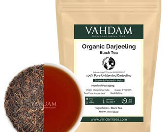 Organic Darjeeling Tea Leaves from the Himalayas (225 Cups) 2016 Prime Second Flush Black Tea Direct from India, 454g