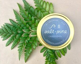 SALT + PINE | No. 1 Backwoods | Scented Handmade Soy Candle in 4 oz. Tin