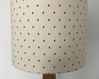 Red Seeds on White background Lampshade