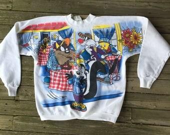 Large looney toons 90's sweatshirt