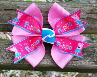 Peppa Pig Hair Bow (4 inch)