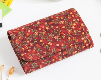 Wallet, Small fabric wallet,  Small womens wallet, Women's wallet, Coin purse, Small wallet, Change purse, Coin pouch, Flower purse, Floral