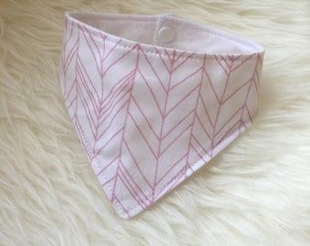 Pink Herringbone Cat Bandana