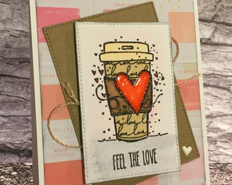 Handcrafted Greeting Card - Feel the Love (PAT-0019)
