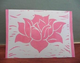 Lotus flower (Blank Gift Card)