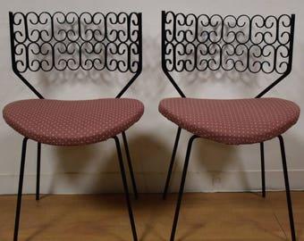 Arthur Umanoff Wrought Iron Chairs