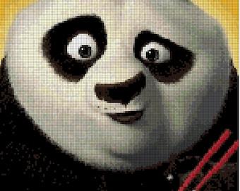 Kung Fu Panda cross stitch pattern