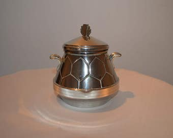 SILVER HONEY POT