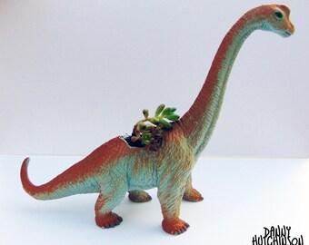 Brachiosaurus / Diplodocus Dinosaur Planter - FREE UK P&P