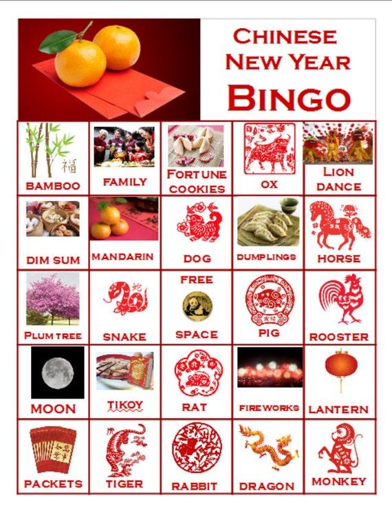 Bingo And Matching Games Chinese New Year