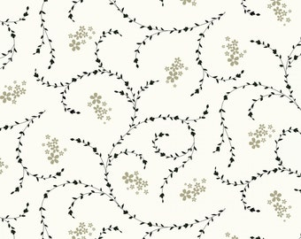 Elcott Park Light Cream Floral Vine by Stepping Stone Studios Y2024-02 - flowers vine quilting cotton woven fabric