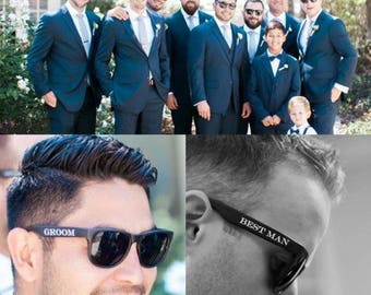 Groomsman Sunglasses - Set of 9 Wedding Sunglasses for Grooms Party!