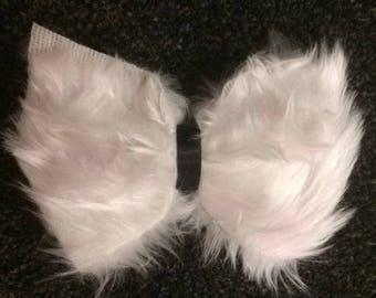 White fluffy bow