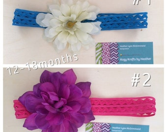 Baby girl Girls' flower crochet elastic headbands