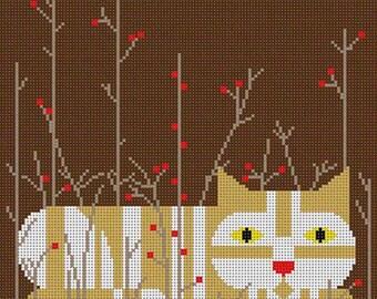 Cat - Autumn (Edie) Needlepoint Pattern