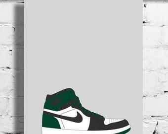 Nike Air Jordan 1 DMP 60+ Pack Poster – 1985 – Sneaker Poster – A4 - A3 – Digital – Celtics - Bulls – Art – Sneaker - Basketball - Boston