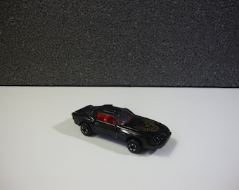 Zee Zylmex Black Trans Am P362 with Red Interior Vintage Diecast Toy Car Made In Hong Kong