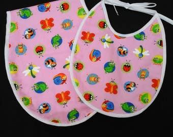 Baby bib, baby burper, bib, burper,  burpie,  towelling bib, tie bib, towelling burper, burper pad,