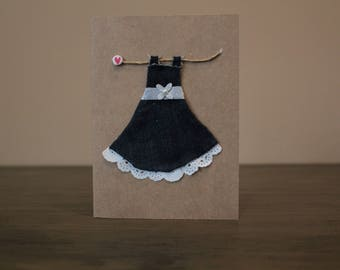 Denim Dress Card