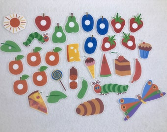 Hungry Caterpillar Felt Board Story - Flannel Board - Speech Therapy - Children's Gift - Early Childhood Education - Life Cycle Kindergarten