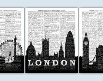 London Wall Art london cityscape | etsy