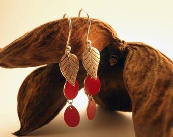 Falling leave earrings