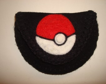 Unique Hand Crafted Geek Pouch Coin Purse What Have You Pokemon Pokeball - Nintendo Gaming