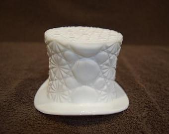 Fenton Top Hat Milk Glass