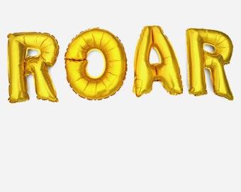 ROAR Mylar Balloons, Dinosaur Birthday Banner, Monster Birthday Banner