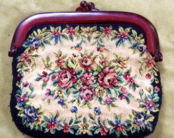 1940s Charming Vintage Tepastery Purse/Clutch