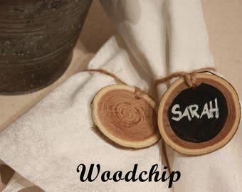 Chalkboard Napkin Rings - (Reversible) Wood slice, Farmhouse Decor, Home Decor, Table Setting, Wedding decor, Rustic Decor