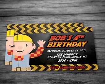 Bob the Builder Children's Birthday Invitation (Postcard Size)
