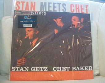 "Vintage Stan Getz And Chet Baker ""Stan Meets Chet"" Vinyl LP"