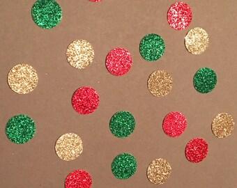 225 Red Green and Gold Confetti Christmas Confetti Confetti Birthday Confetti Glitter Confetti Green Confetti Gold Confetti Red Confetti