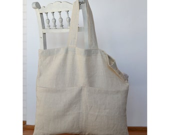 Large linen bag, reusable shopping bag, linen shopping bag, natural tote bag, beach bag, big tote bag, Everyday bag, Eco bag, natural totes