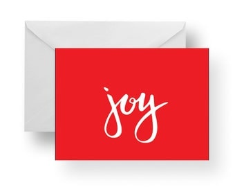 Christmas Cards, Holiday Cards, Christmas Note Cards, Joy, Christmas stationery
