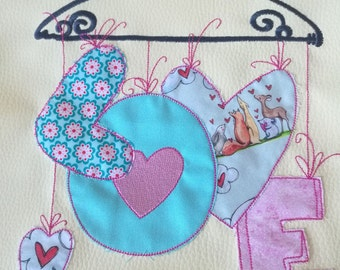 Embroidery * LOVE * in 8 sizes