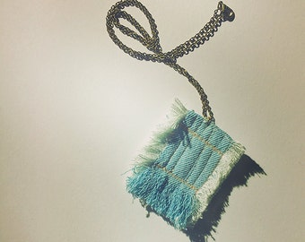 the little denim tapestry necklace
