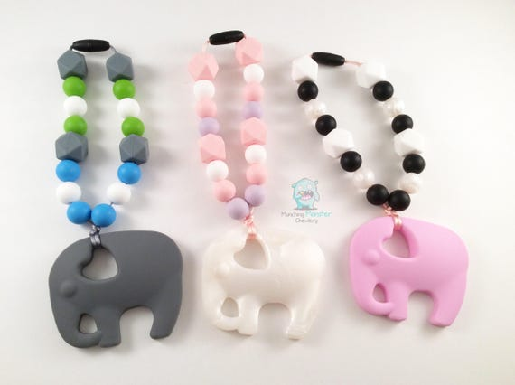 Elephant Carrier Clip, baby wearing clip, teether, baby gift, Tula, Ring Sling, ERGO or baby wrap accessory, teething toy, chewlery, new mom