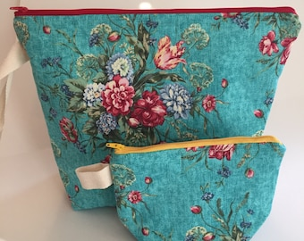 Project bags for knitters and crocheters-Two Daughters fabric