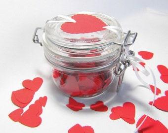 Confetti in the glass heart confetti confetti heart table jewelry Valentine's day paper confetti hearts confetti hearts wedding confetti