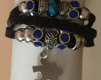 Leather Austism Bracelet