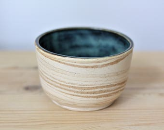 Marbled Ceramic Cup –  Handmade Pottery Cup – Handmade Marbled Tea Cup – Ceramic Planter – Succulent Planter